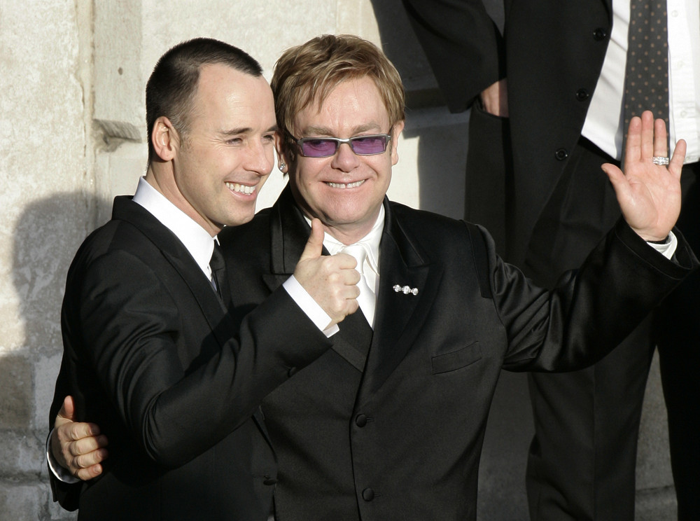 Elton John and David Furnish are married!