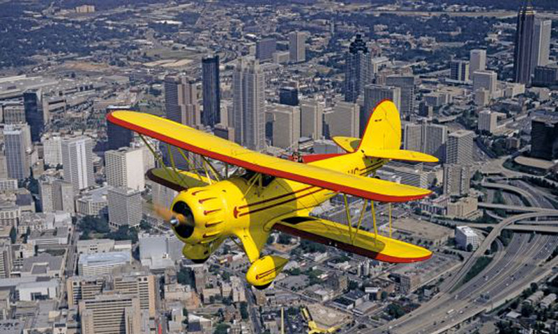 How about taking Dad up into the air with Biplane Rides Over Atlanta?