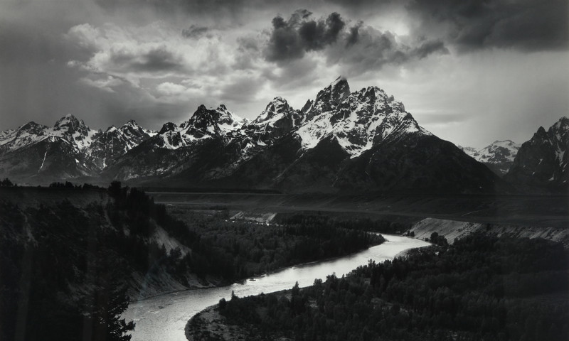 Here is one of the Ansel Adams' photos in the exhibit.