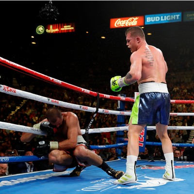 Saul 'Canelo' Alvarez hit Sergey Kovalev with a knockout punch so hard the Russian collapsed through the ropes