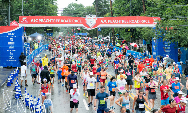 6.2 miles. Over 60,000 participants. Are you ready for the Peachtree Road Race? (Gene Phillips, AtlantaPhotos.com)