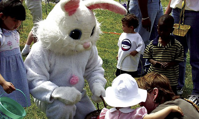 The Easter bunny will delight guests at Callaway Gardens.
