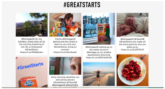 Kelloggs great starts campaign