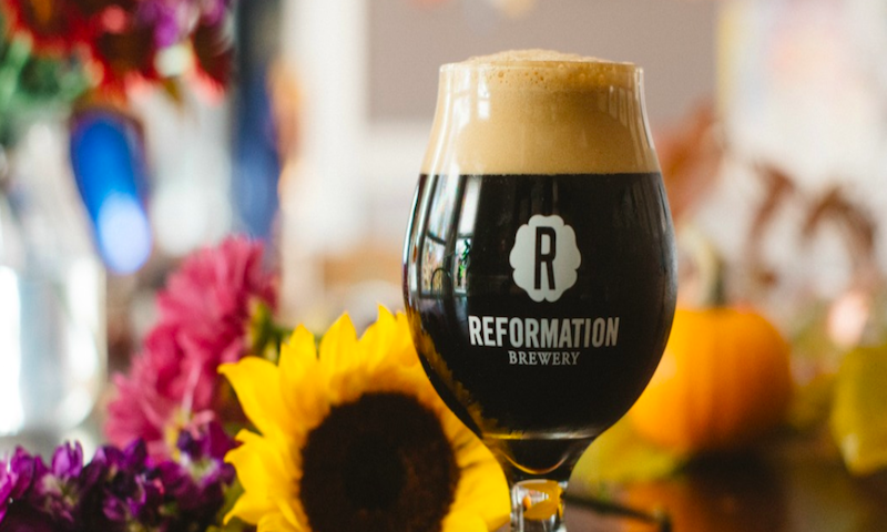 Try the seasonal holiday brew, Scout, from Reformation Brewing.