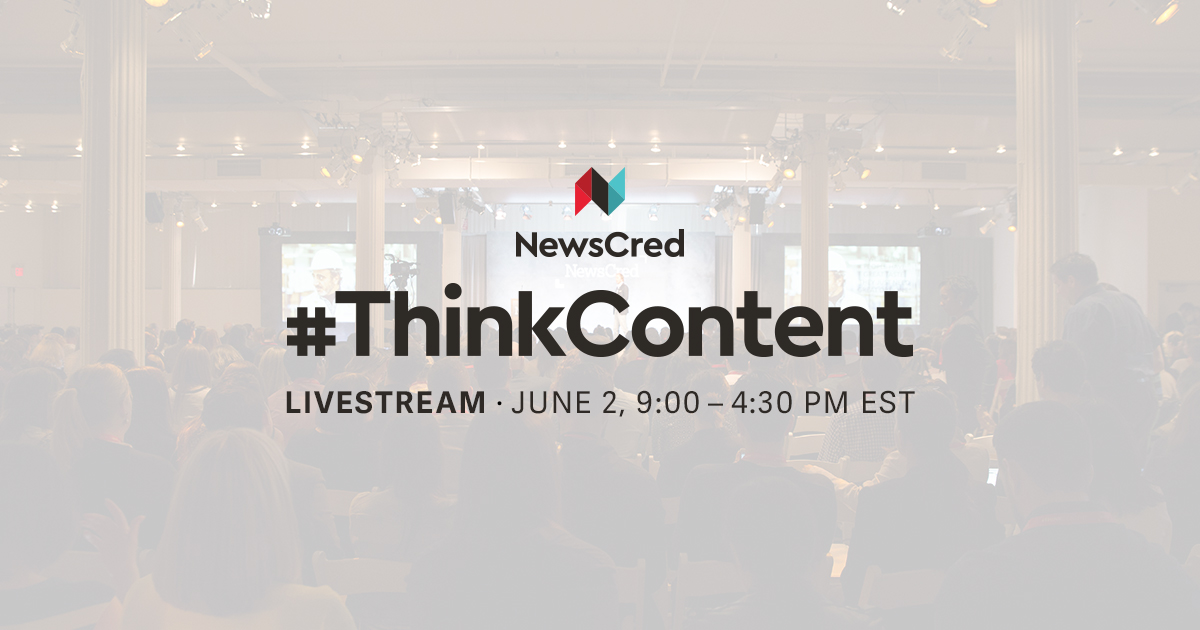 TODAY! #ThinkContent 2016