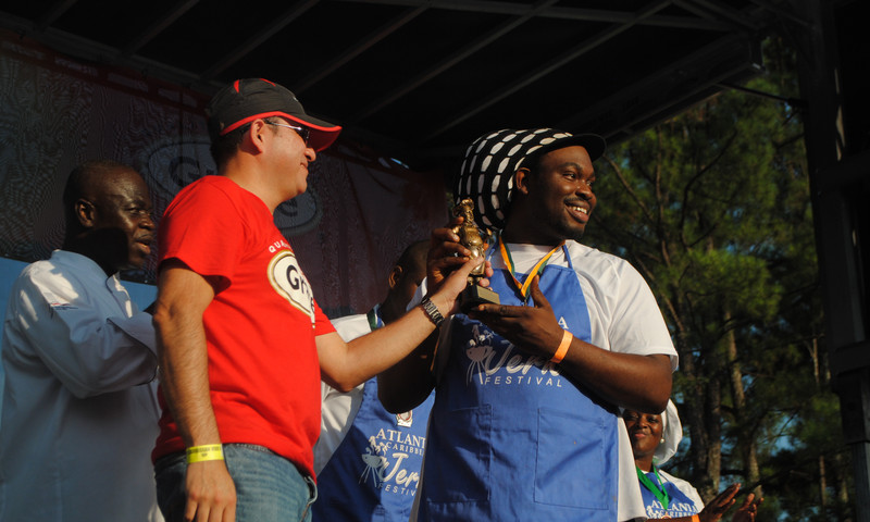 Chef Leroy took the  top prize last year at the Atlanta Caribbean Jerk Festival.