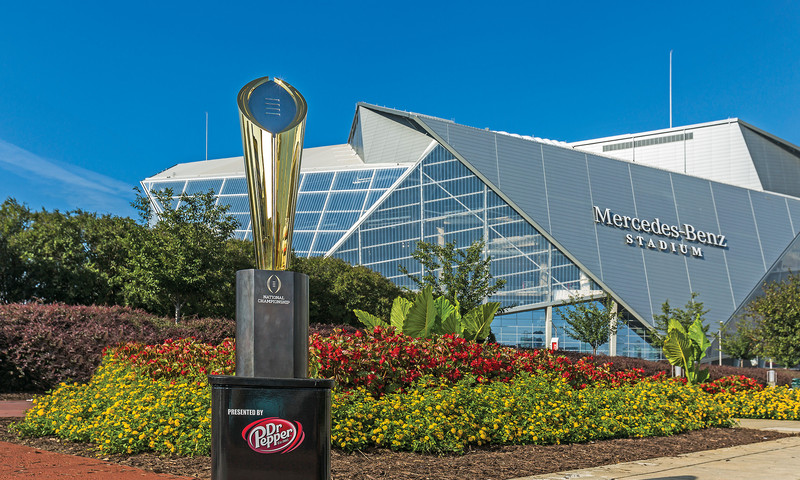 Mercedes-Benz Stadium is a hotbed of huge football events this season. (photo Paul Abell)