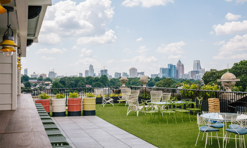 The Hotel Clermont has one of the best rooftop bars in the city.