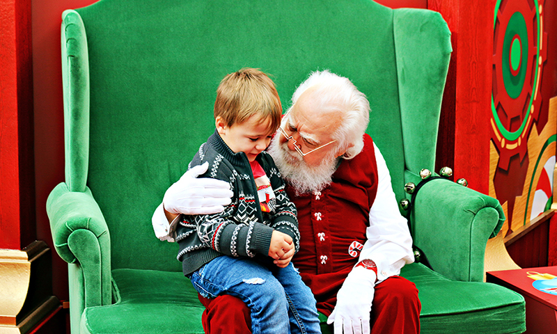 Kids get to visit Santa's Toy Factory at North Point Mall. (Joleen Pete Photography)