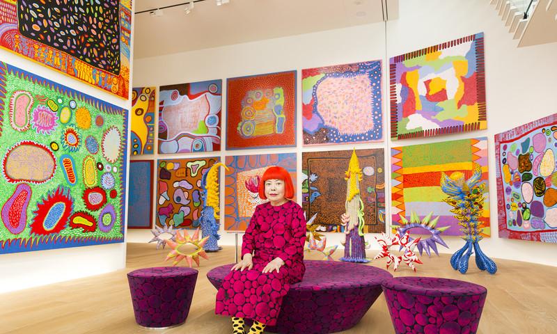 Don't miss Yayoi Kusama's exhibit while it's in ATL. Courtesy of the artist. Art © Yayoi Kusama. Photo by Tomoaki Makino.