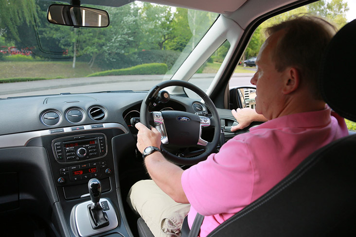 Motability Scheme customer driving car