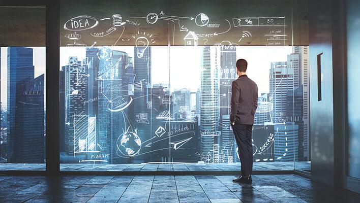 メインビジュアル : デジタル技術が実現する、ディスラプティブな未来ビジョン