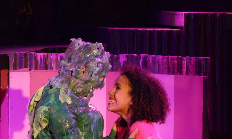 Toxie is smitten with the blind librarian. (photo Amanda Cantrell)