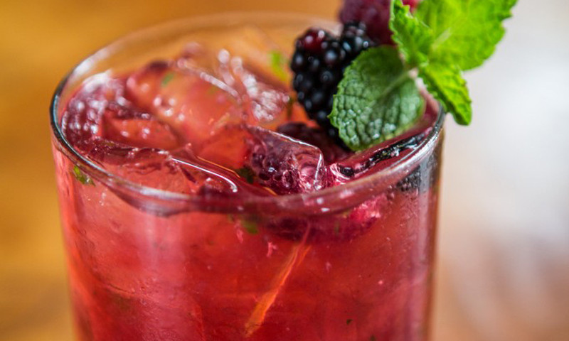 The Wild Berry Mojito at 5Church makes a great citrus-y summer drink.