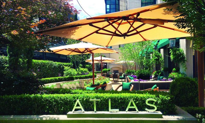 Enjoy lush greenery in the Secret Garden at Atlas.