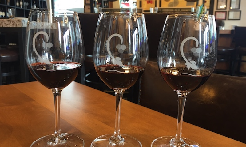 Wine lovers will enjoy CRU at The Battery with delicious wine flights.