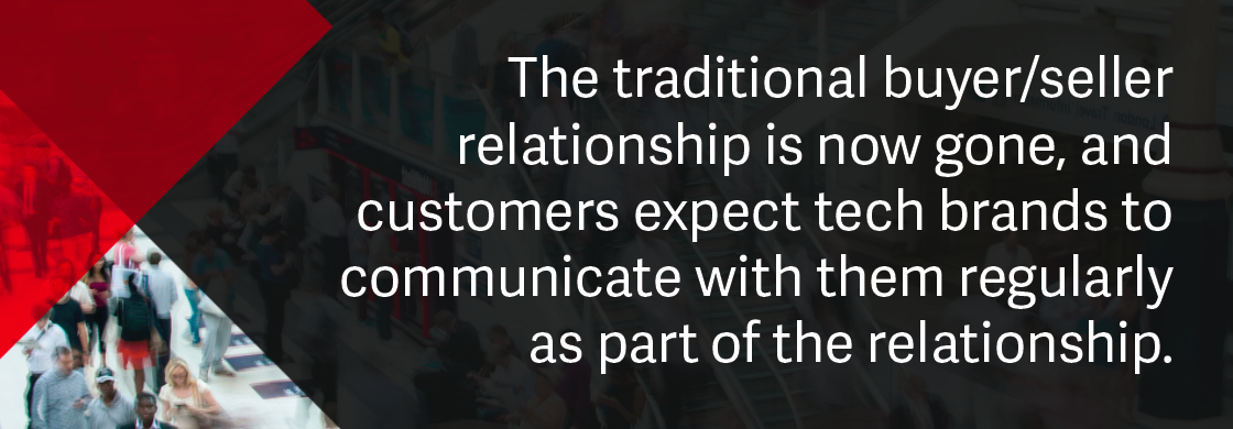 Technology brands content marketing