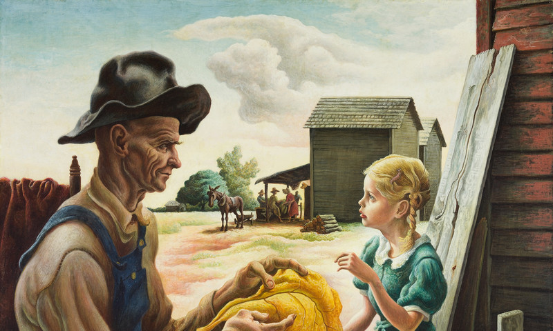 Feast your eyes on this painting by Thomas Hart Benton.