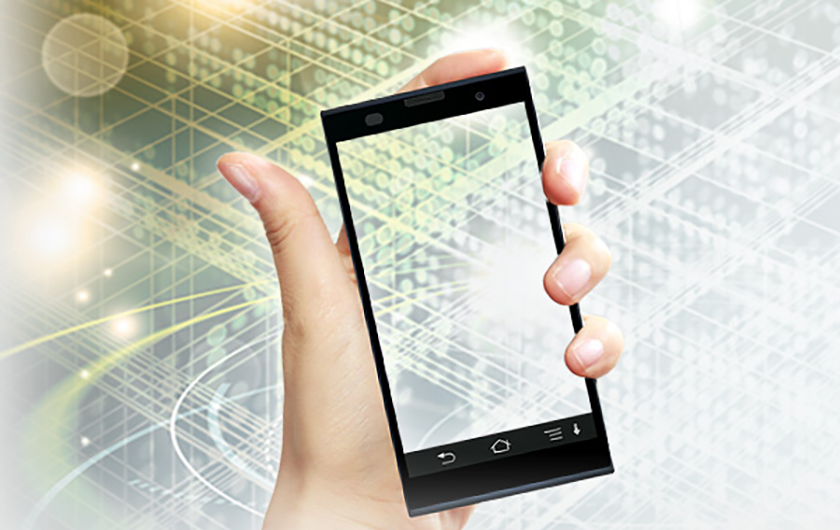 メインビジュアル : 状況に応じてスマホが専用端末に変化!「モバイル活用基盤技術」