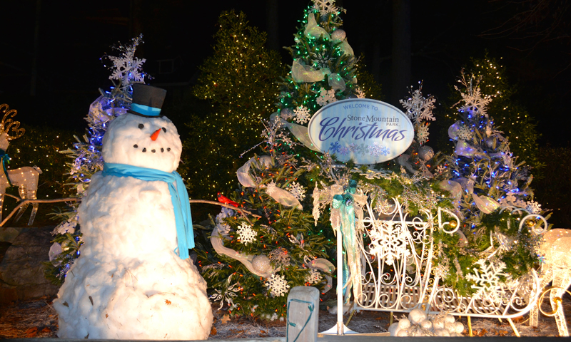 There's a lot to do at during Christmas at Stone Mountain Park.