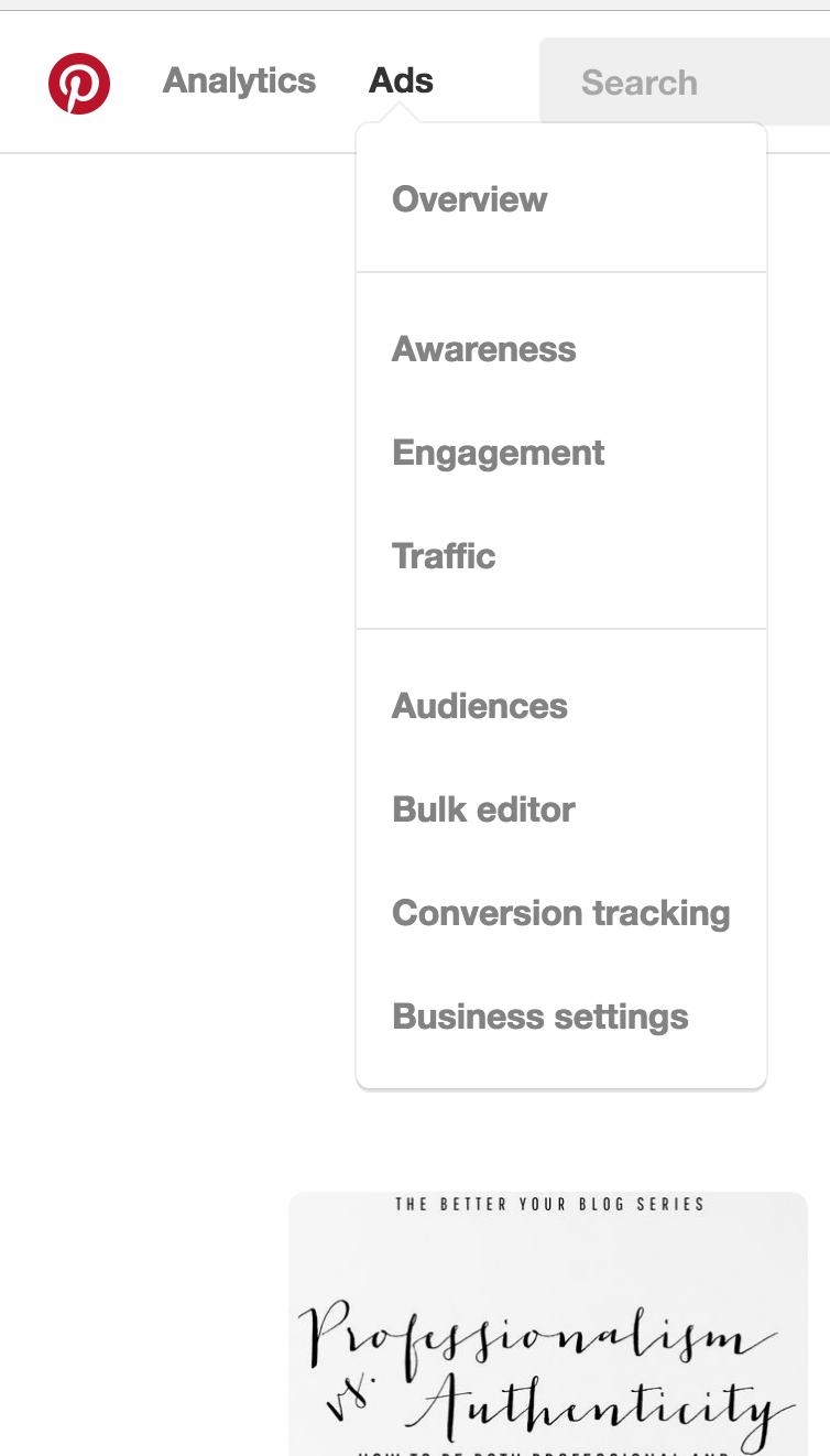 Pinterest ads in menu screen shot.png