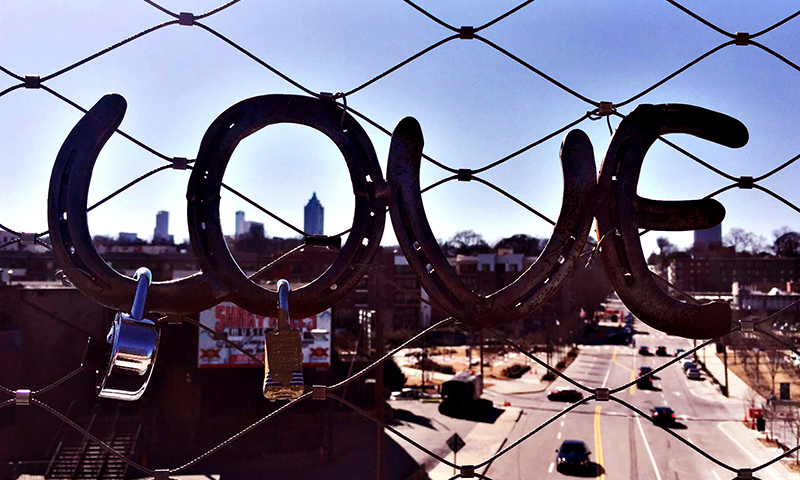 This LOVE sign is located on the BeltLine behind Ponce City Market. (Joleen Pete Photography)