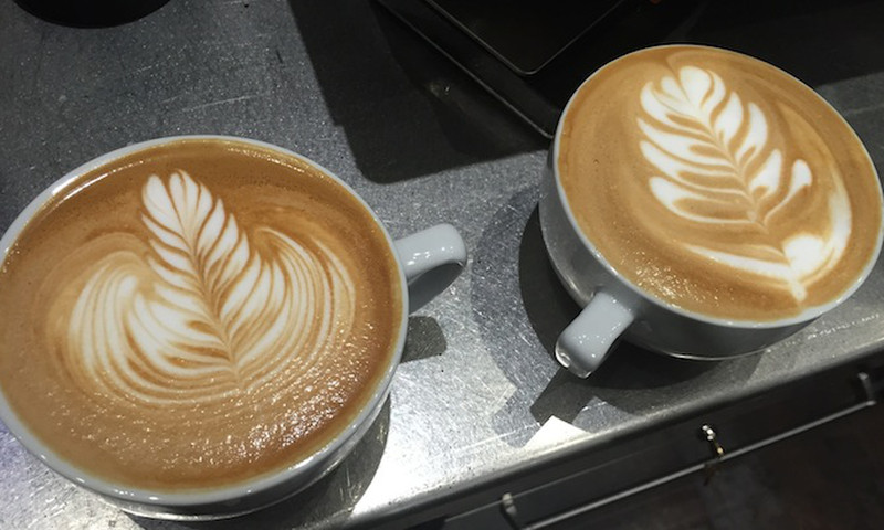 Celebrate Coffee Day with latte art from one of the many coffee shops in Atlanta.