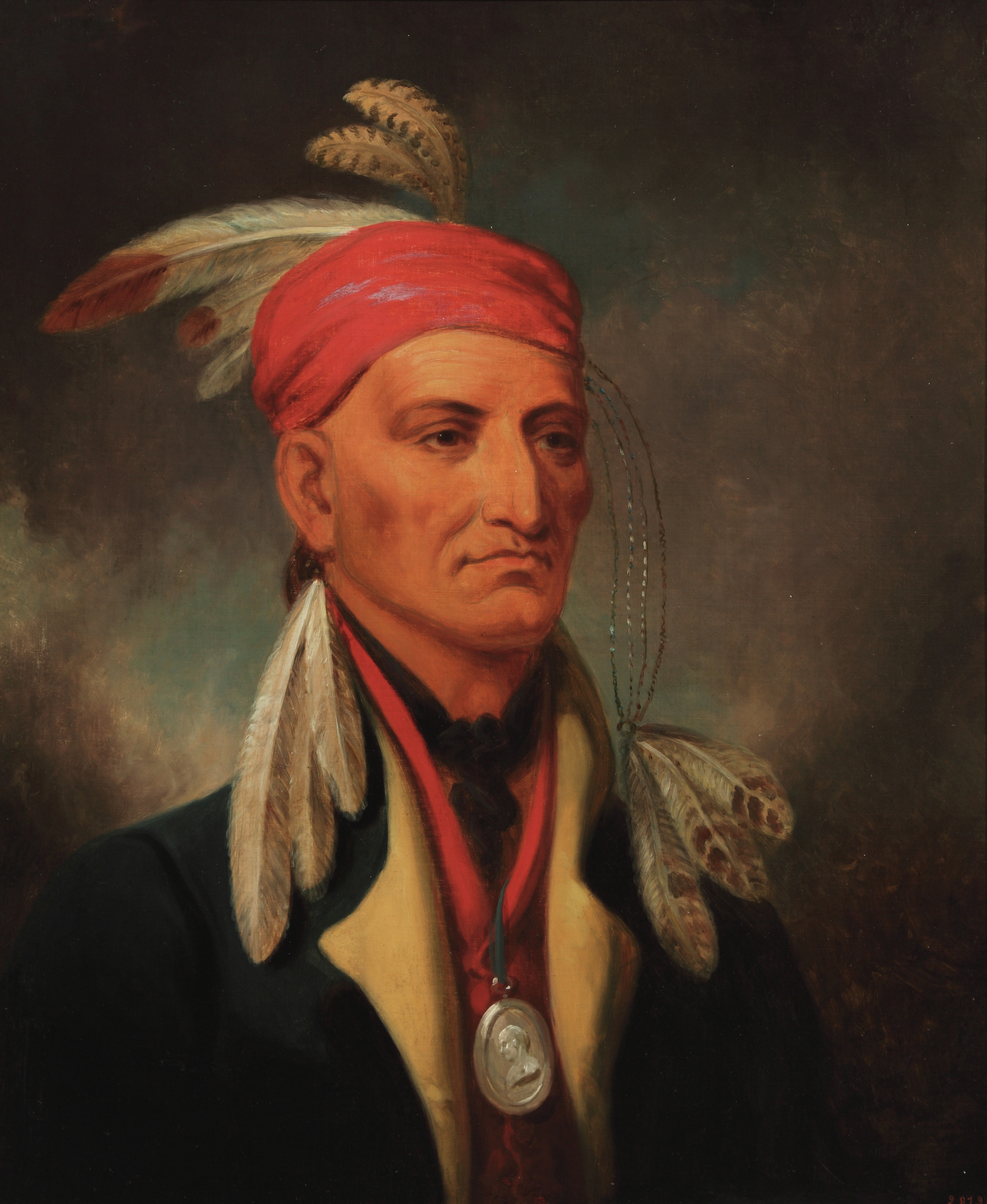 "Henry Inman (American 1801-1846), ""Shingaba W'Ossin (Chippewa),"" ca. 1831-1834, oil on canvas."