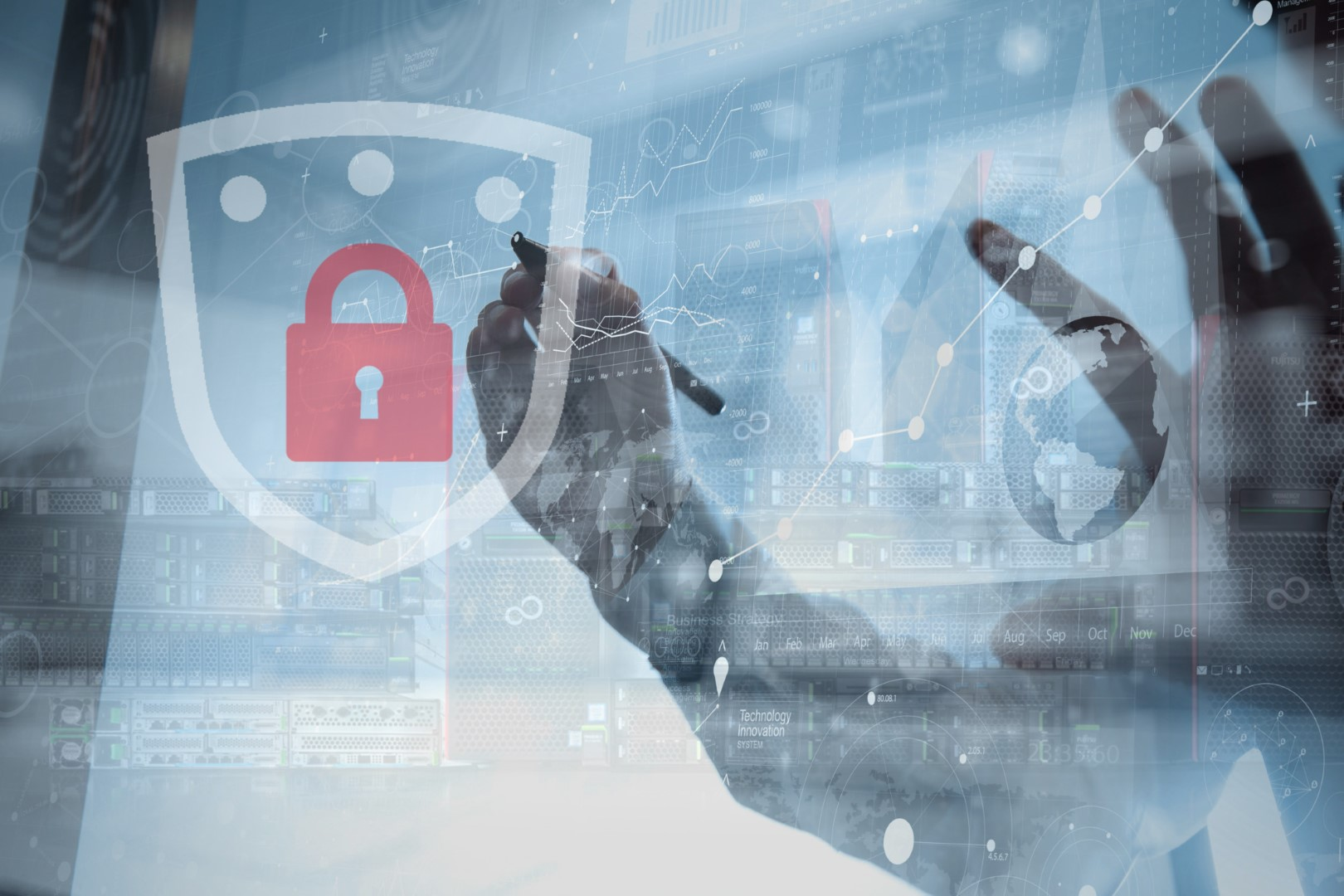 Main visual : Servers are key to prevent security breaches and data theft