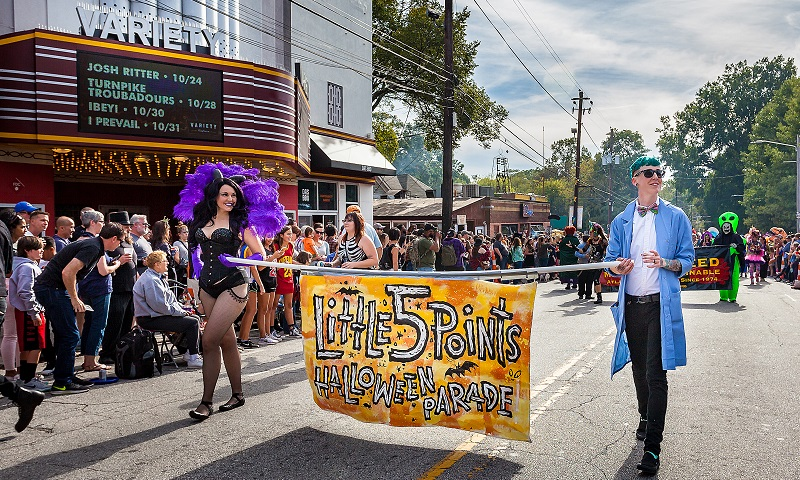 Enjoy offbeat fun in one of Atlanta's hippest 'hoods at the Little 5 Points Halloween Festival & Parade