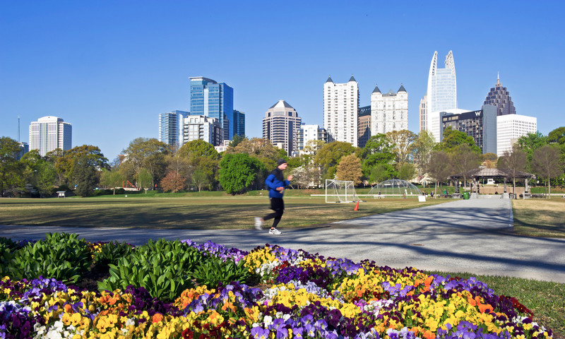Piedmont Park is headquarters for the Atlanta Pride Festival.
