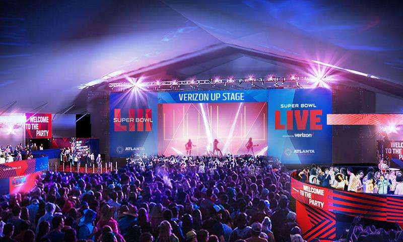 Super Bowl LIVE Presented by Verizon features live music from Jan. 26 to Feb. 2.