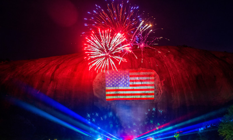 The Fantastic Fourth Celebration takes place each year at Stone Mountain Park.
