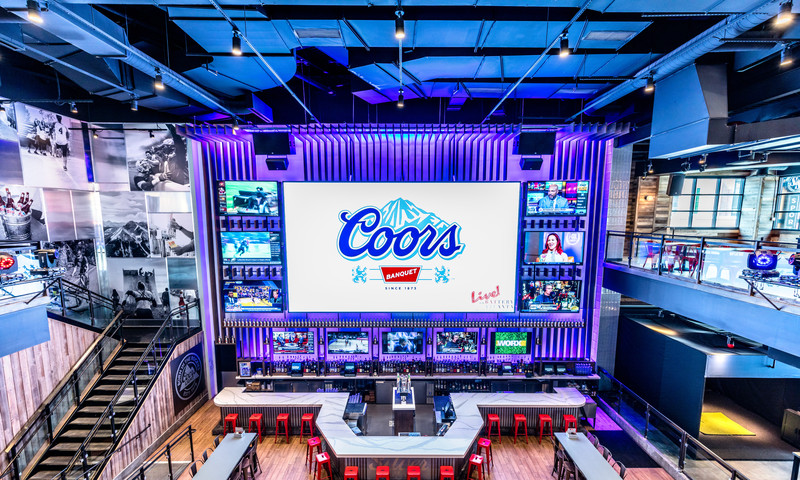 Live! At The Battery Atlanta will broadcast the Super Bowl on the large screen.