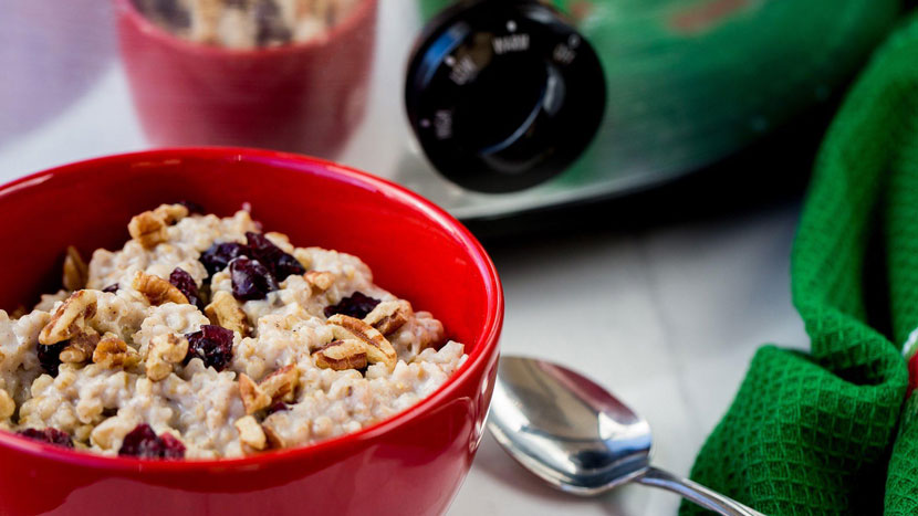 All-in-one cooker: Oatmeal