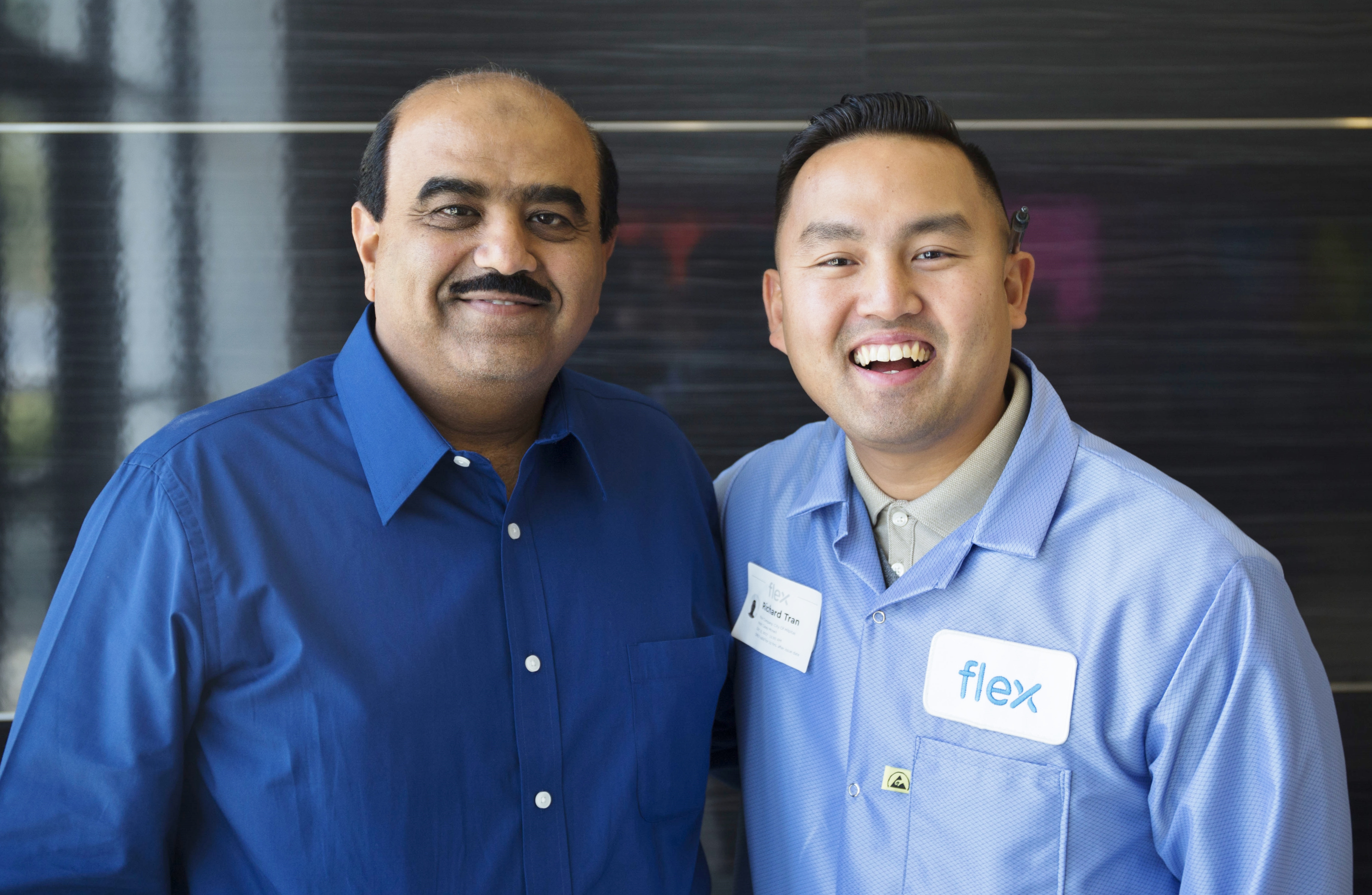 General Manager, Zahid Hussain, of Flex Milpitas and Milpitas Mayor, Rich Tran, pictured together.
