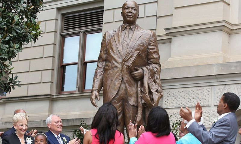 The new MLK statue at the Georgia State Capitol was unveiled in August. (Georgia Governor's Office)