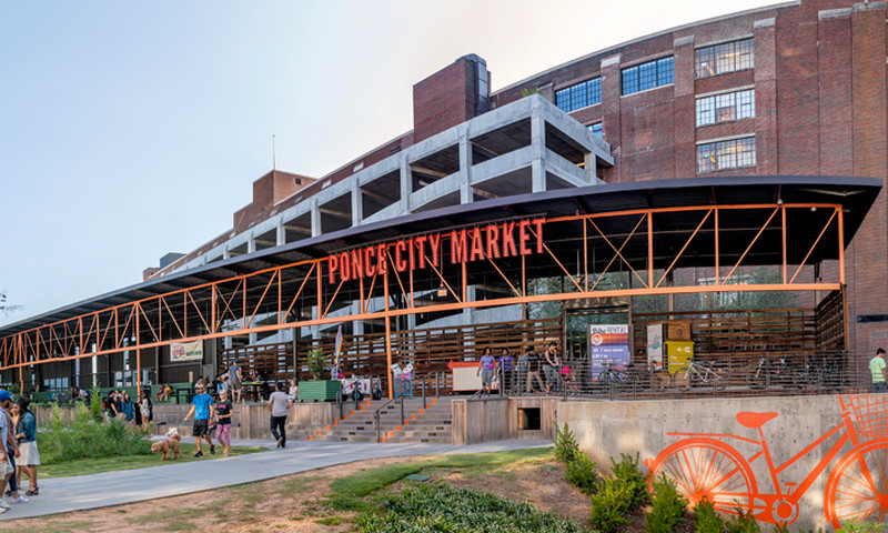 The Ponce City Market Atlanta Belt Line Entrance. (Gene Phillips, AtlantaPhotos.com)