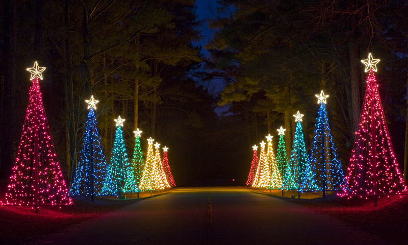 A dazzling light show is among many holiday things to do at Callaway Gardens.
