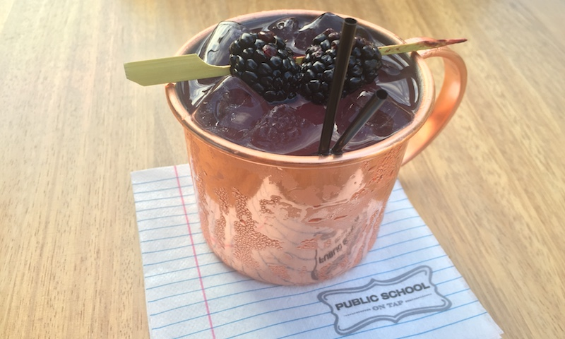 The blackberry mojito at Public School 404 is well-balanced and pretty.