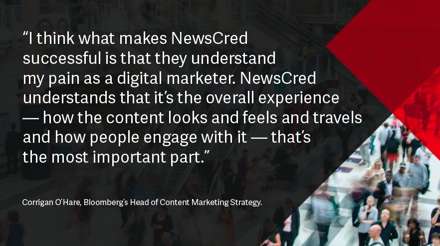 Corrigan OHare Financial services content marketing quote