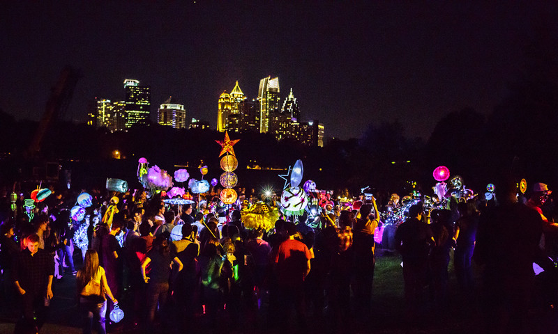 Enjoy all of the lights at the BeltLine Lantern Parade.