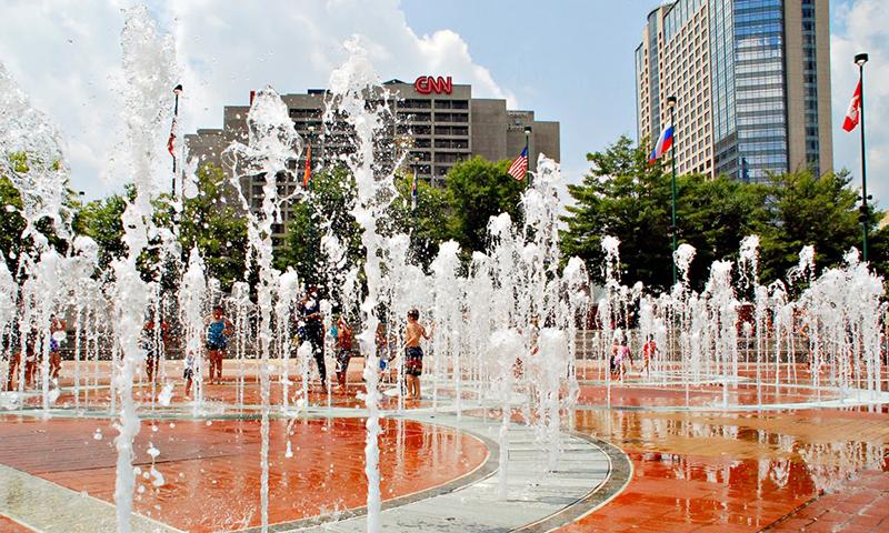 Splish Splash For Free In The Fountain Of Rings At Centennial Olympic Park Joleen