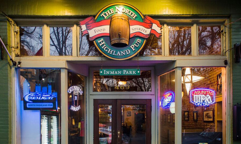 The North Highland Pub, in Inman Park, features Taco Tuesdays.
