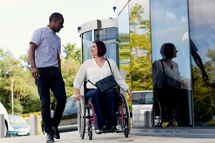 Motability Scheme customer in wheelchair
