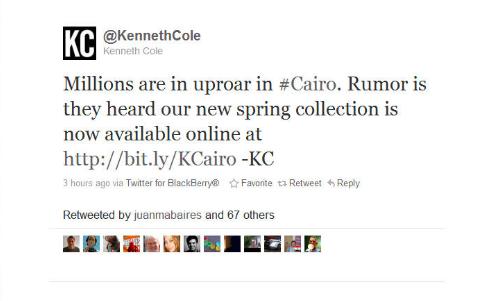 Kennith Cole Brand Fail Social Media