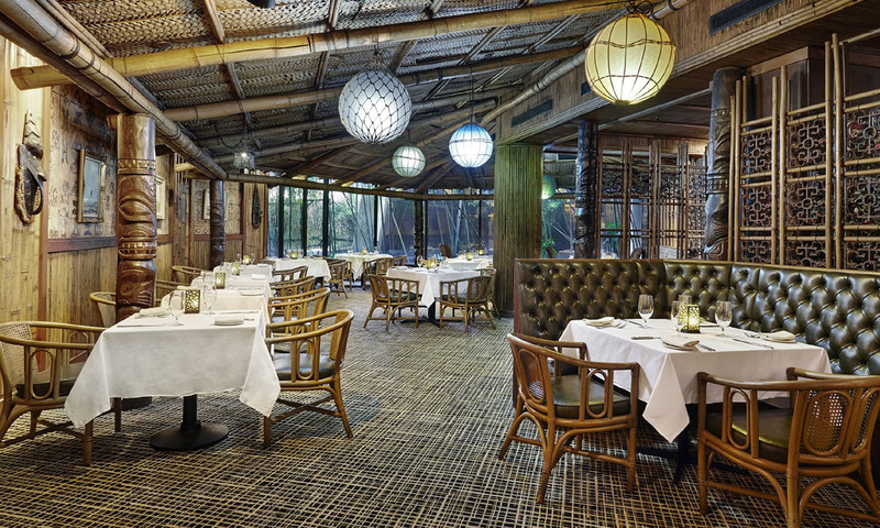 Dine with tropical flair and an island atmosphere at Trader Vic's.