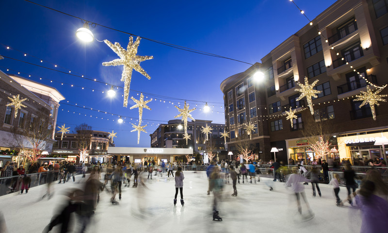 The ice rink at Avalon is one of several throughout the metro area.