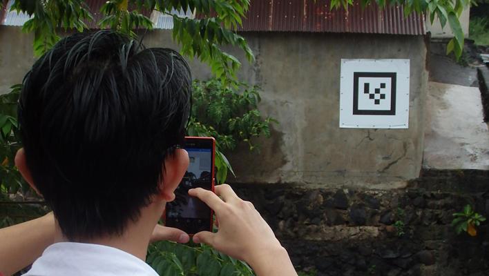 メインビジュアル : インドネシアの深刻な水害から市民を守る! ARとスマホを活用した河川水位観測