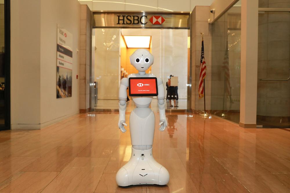 メインビジュアル : ヒト型ロボット「ペッパー」がHSBC銀行に就職!?